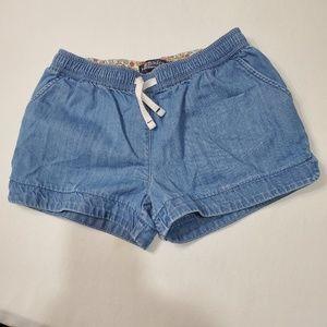 Mini Boden denim elastic waist shorts with pockets